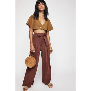 Free People Dwell On Dreams Trouser NWOT Size 10
